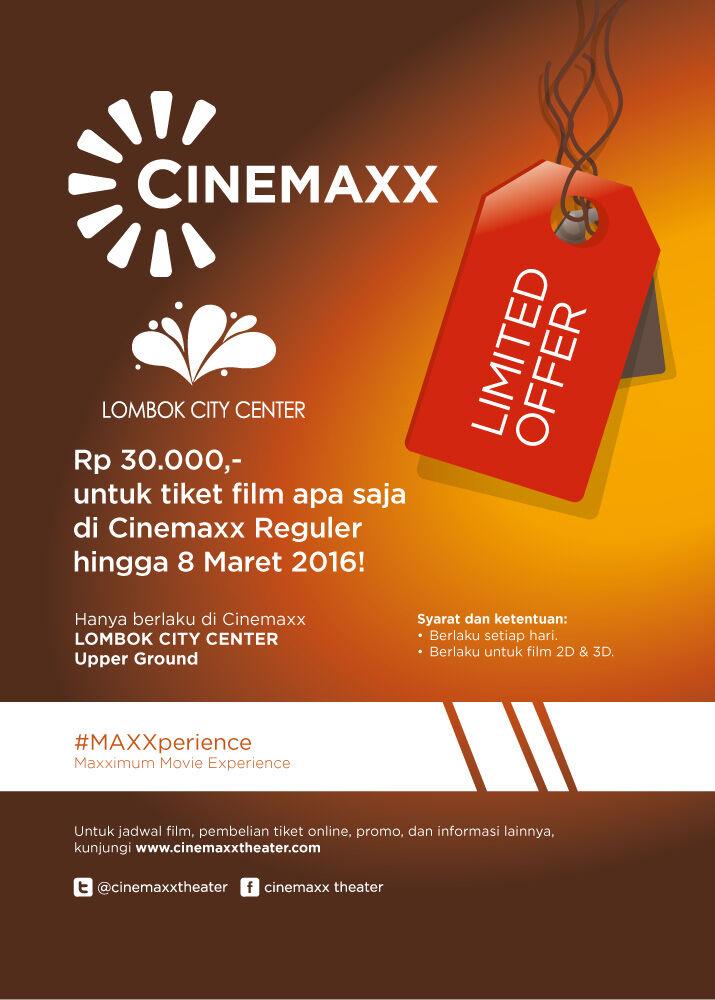 Limited Offer Cinemaxx Lombok City Center