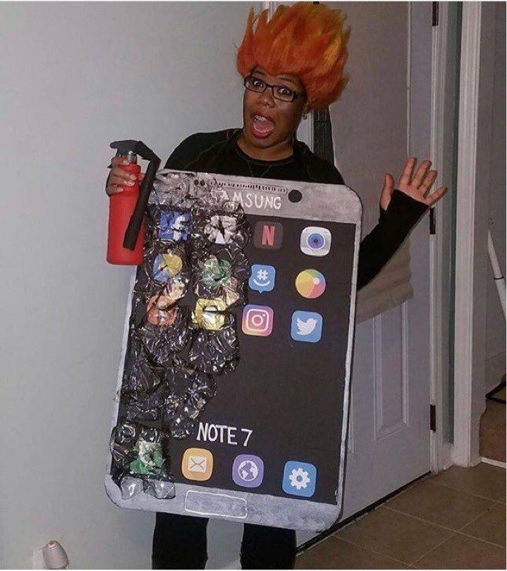 Kostum Halloween Lucu Galaxy Note 7 7