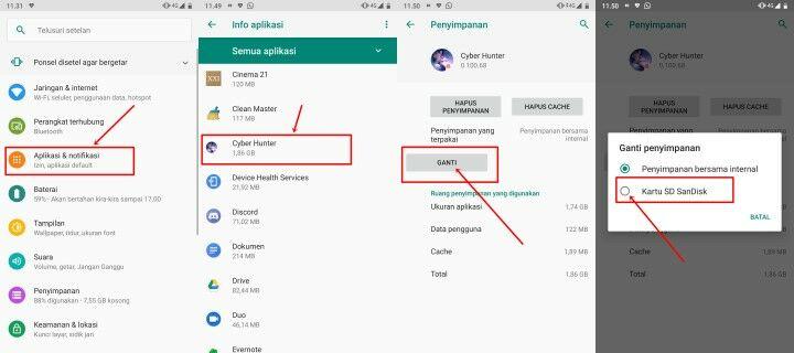Cara Memindahkan Aplikasi ke Kartu SD di hp xiaomi (2)