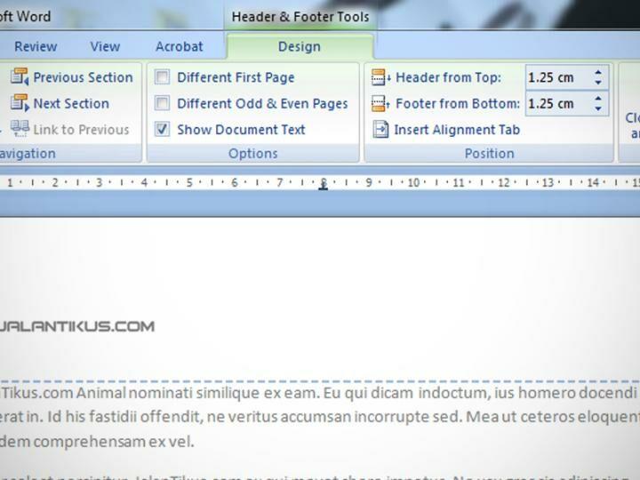 Cara Membuat Header Dan Footer Di Ms Excel 2007