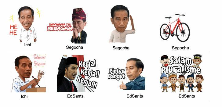 Stiker Jokowi