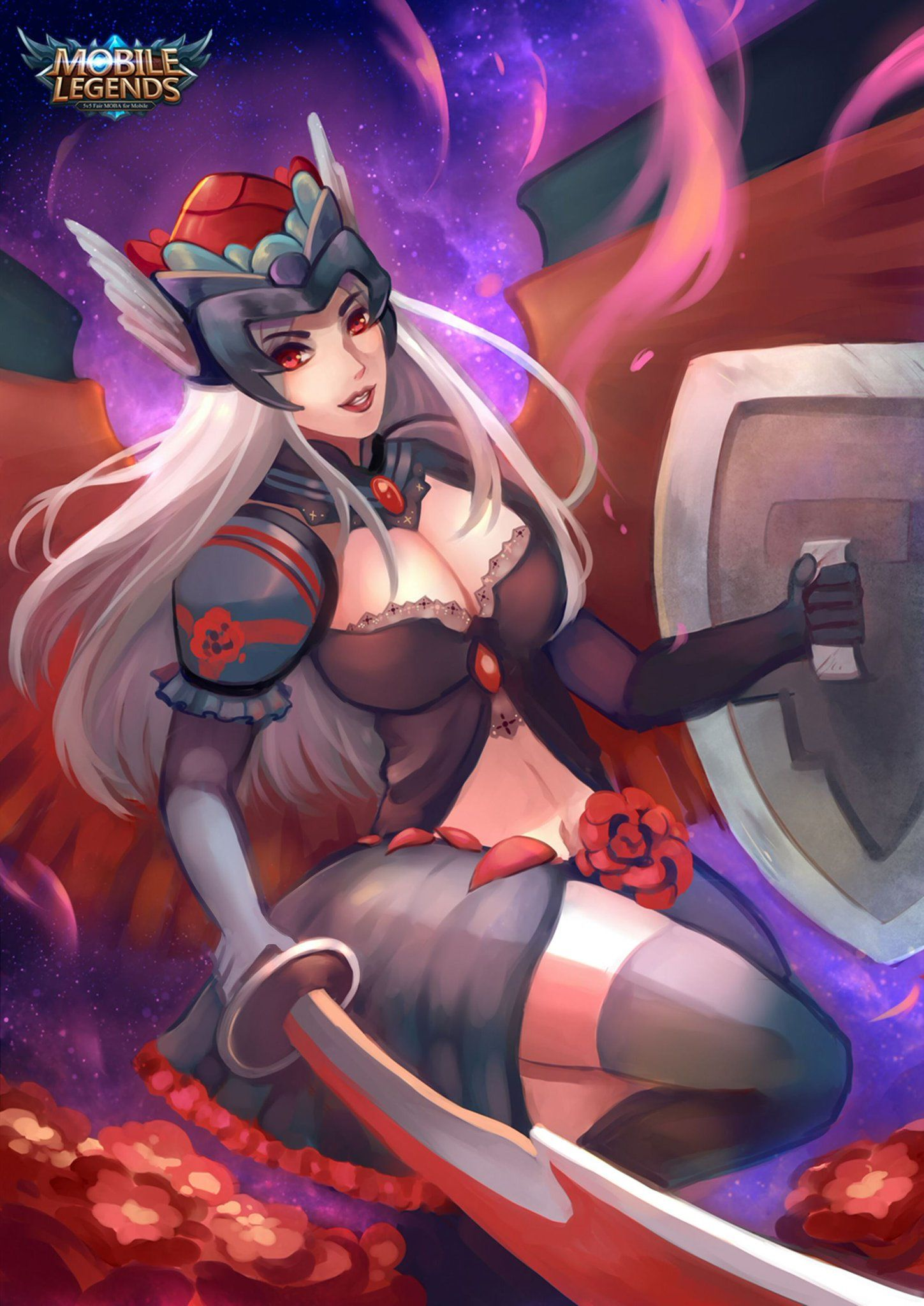 Wallpaper Mobile Legends Freya Dark Rose