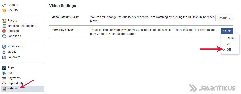 Mematikan Fitur Autoplay Video Facebook 2
