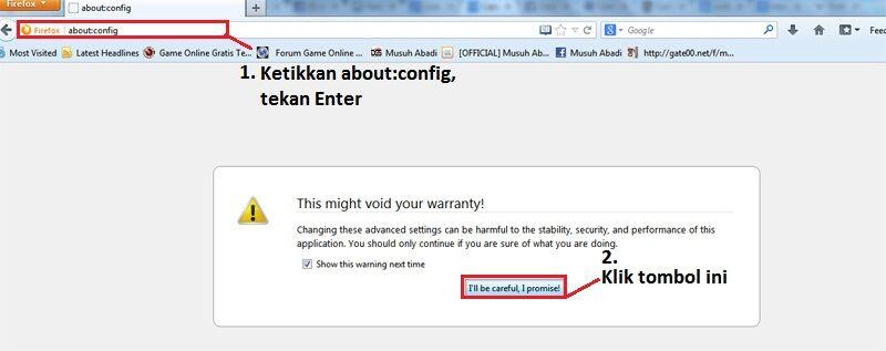 Cara Mempercepat Loading Firefox 1