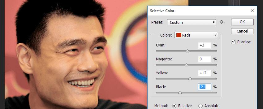 Selective Color Menghilangkan Warna Gelap Pada Wajah
