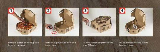 Pizza Hut Box Movie Projector
