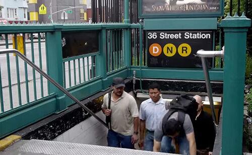 New York City Subway Stairs 1