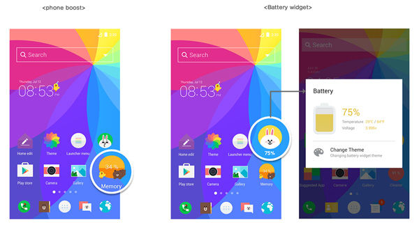 Line Launcher Android Sticker Theme 3