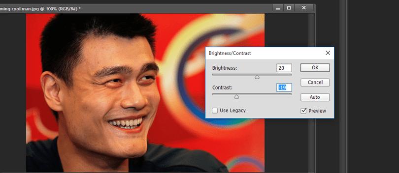 Brightness Dan Contrast Photoshop