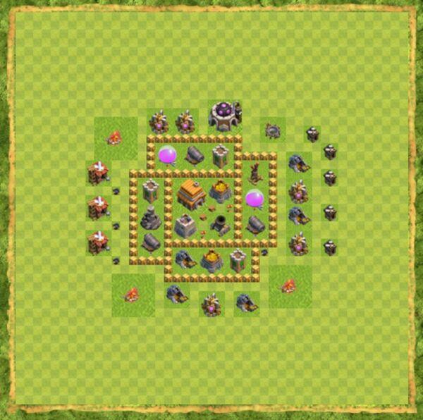 Base Defense Coc Th 5 Terbaru 10
