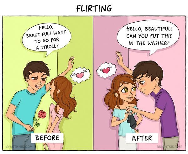 Ilustrasi Pasangan Sebelum Dan Sesudah Menikah 6