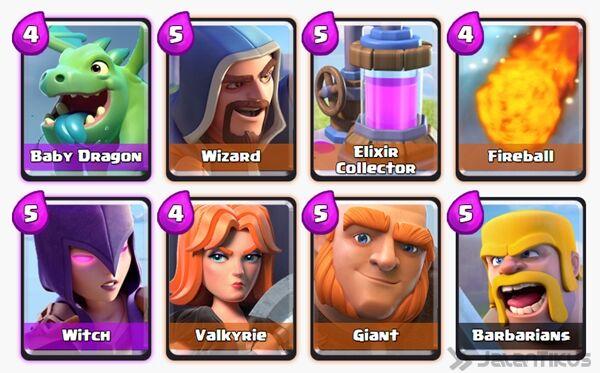 Battle Deck Giant Clash Royale 14