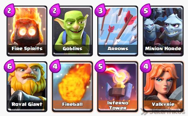 Battle Deck Giant Clash Royale 16
