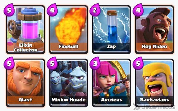 Battle Deck Giant Clash Royale 19