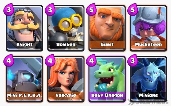 Battle Deck Giant Clash Royale 22