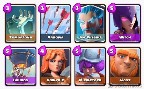 Battle Deck Giant Clash Royale 26