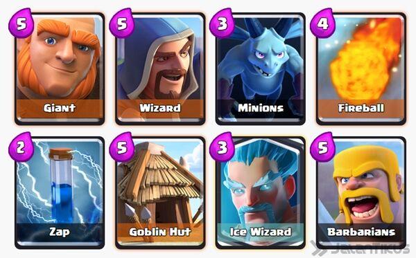 Battle Deck Ice Wizard Clash Royale 11