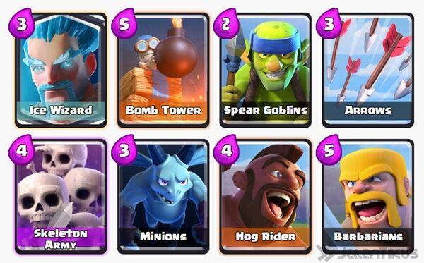 Battle Deck Ice Wizard Clash Royale 16