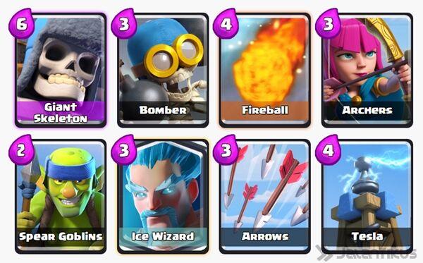 Battle Deck Ice Wizard Clash Royale 17