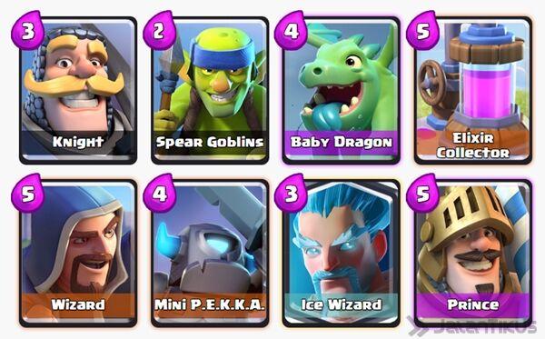 Battle Deck Ice Wizard Clash Royale 2