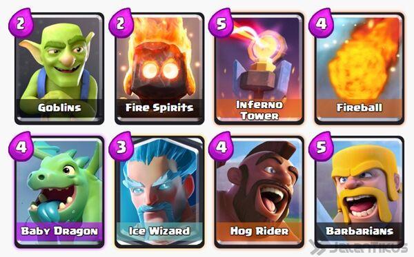 Battle Deck Ice Wizard Clash Royale 6