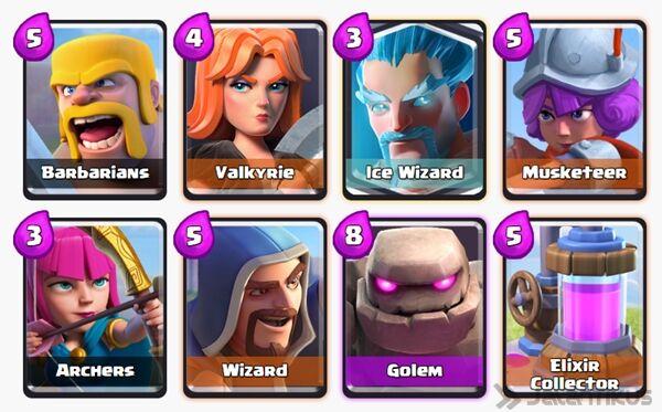 Battle Deck Ice Wizard Clash Royale 7