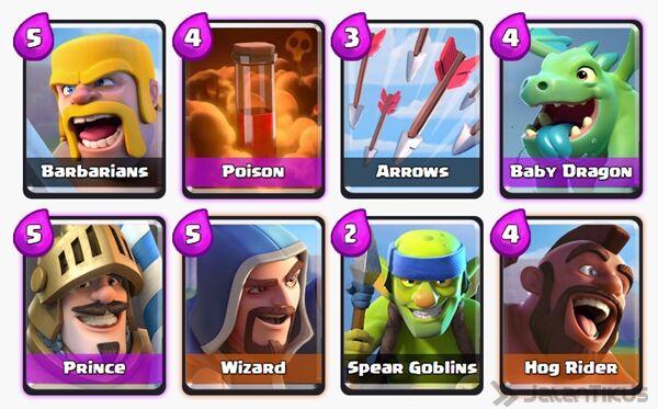 Battle Deck Wizard Clash Royale 19
