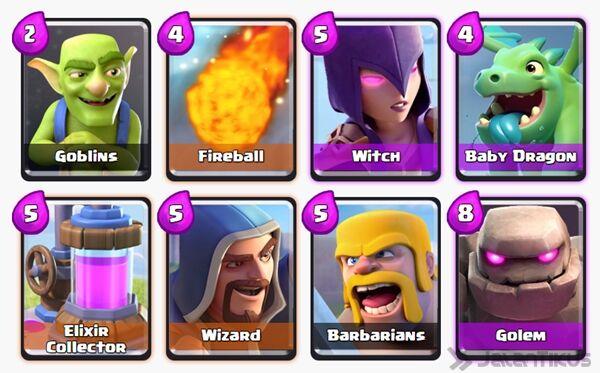 Battle Deck Wizard Clash Royale 25