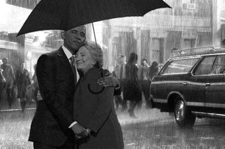 Obama Hiillary Clinton Korban Master Photoshop 10