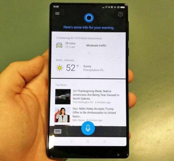 Xiaomi Mi Mix Punya Fitur Cortana