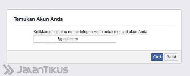 Mengembalikan Akun Facebook 2