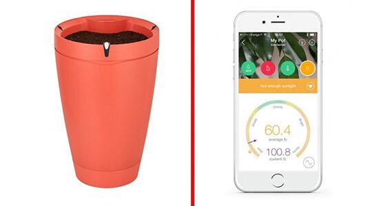 Smart Flowerpot Aksesoris Smartphone Unik