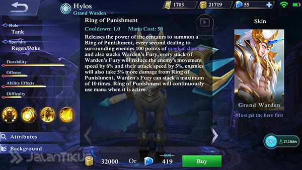 Hero Hylos Mobile Legends 4