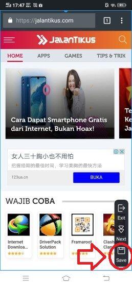 Cara Screenshot Vivo 6 9990b