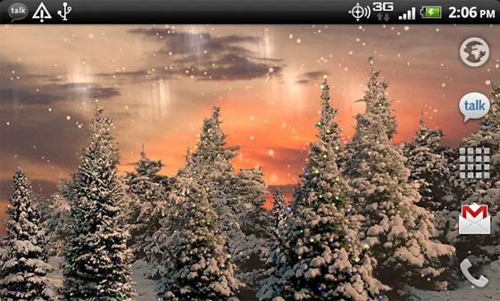 Aplikasi Wallpaper Bergerak Android Snowfall F0461