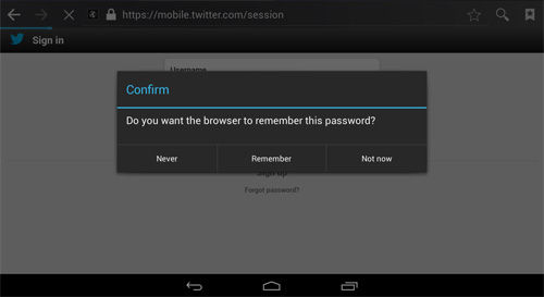 Keamanan Android Save Password