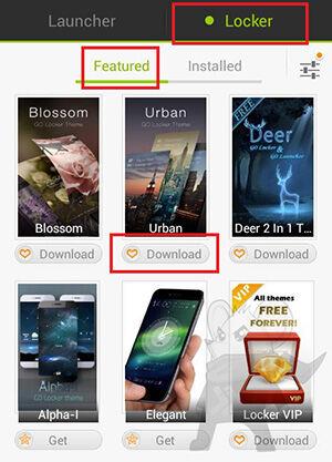 Tampilan Lockscreen Android2