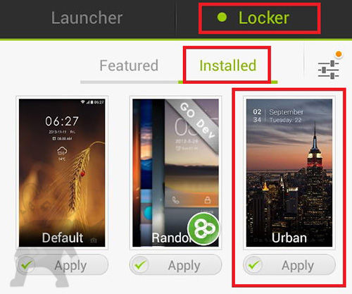 Tampilan Lockscreen Android4