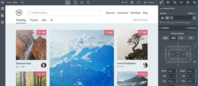 Software Terbaik Untuk Web Design Webflow