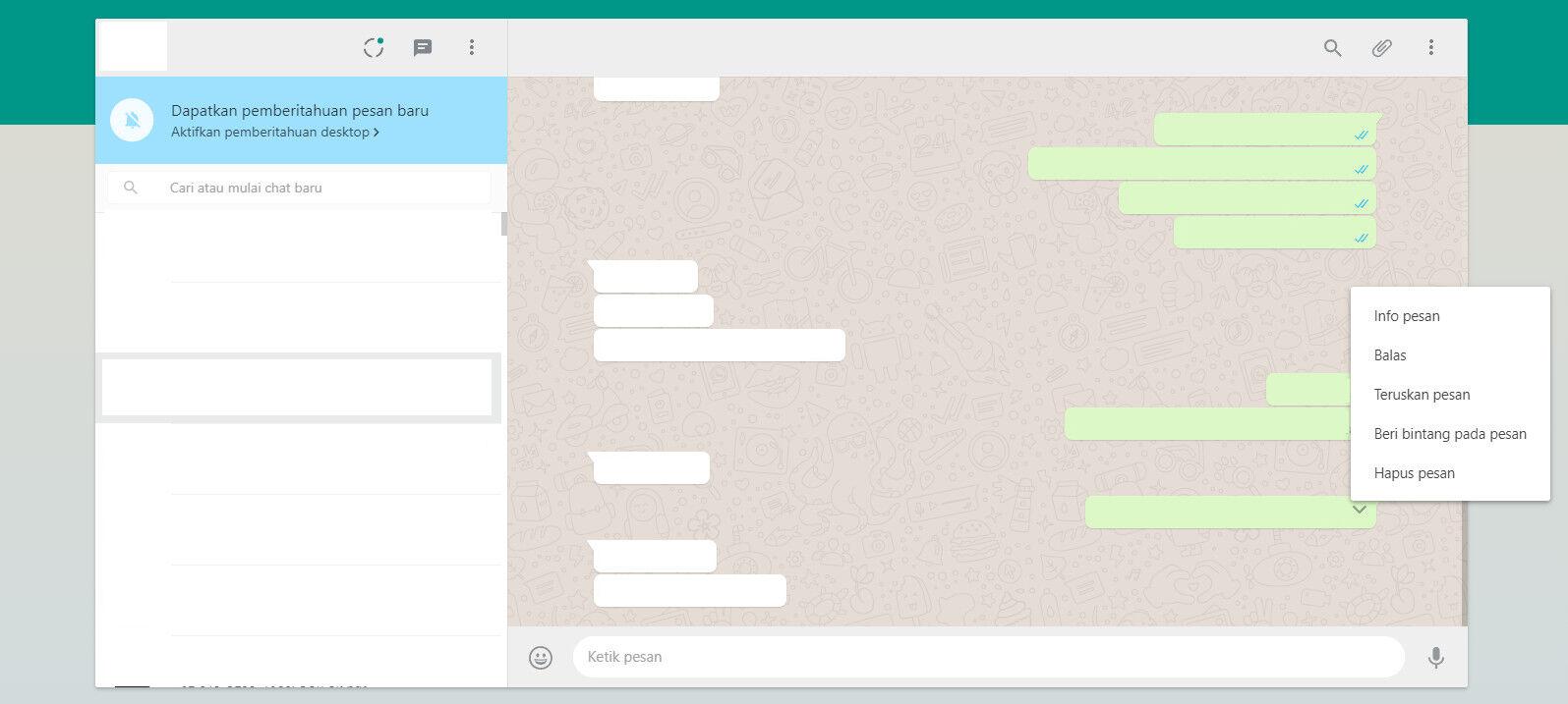 Cara Menarik Pesan Whatsapp Laptop 1 43328