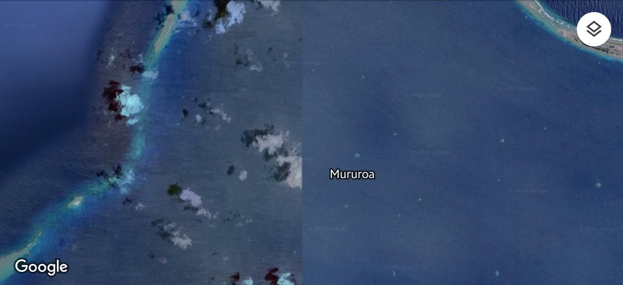 Pulau Mururoa Diblur Google Maps 6 A6225