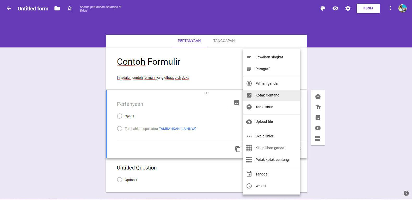 Cara Membuat Google Form 2 2df3c