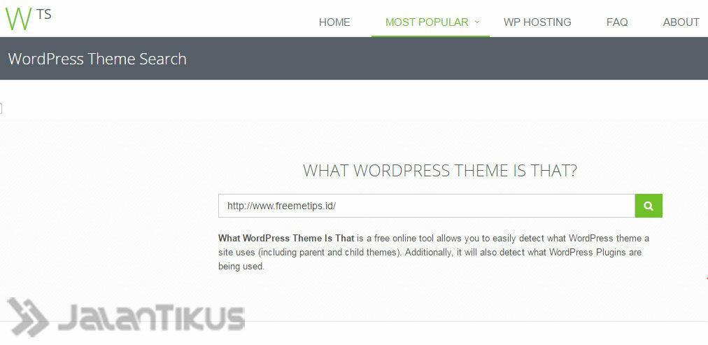 Cara Mengetahui Tema Wordpress