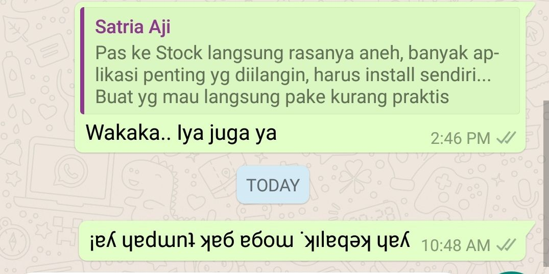 Cara Membuat Tulisan Terbalik Di Whatsapp 3