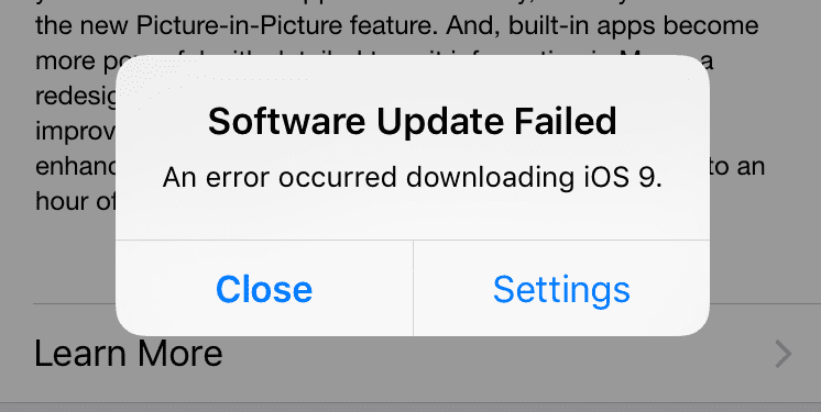 Common Ios 9 Problems And Solutions0