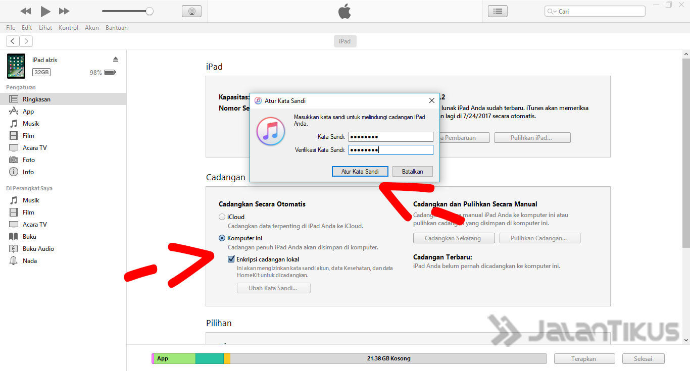 Cara Backup Data Iphone Ipad Itunes 2