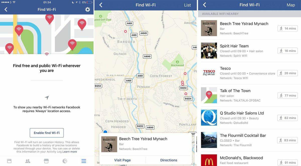 Facebook Find Wifi