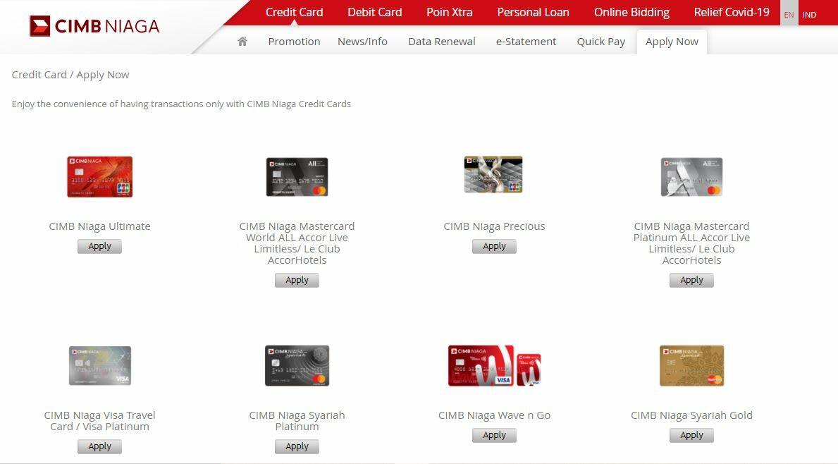 Cara Membuat Kartu Kredit CIMB Niaga Online 0d557