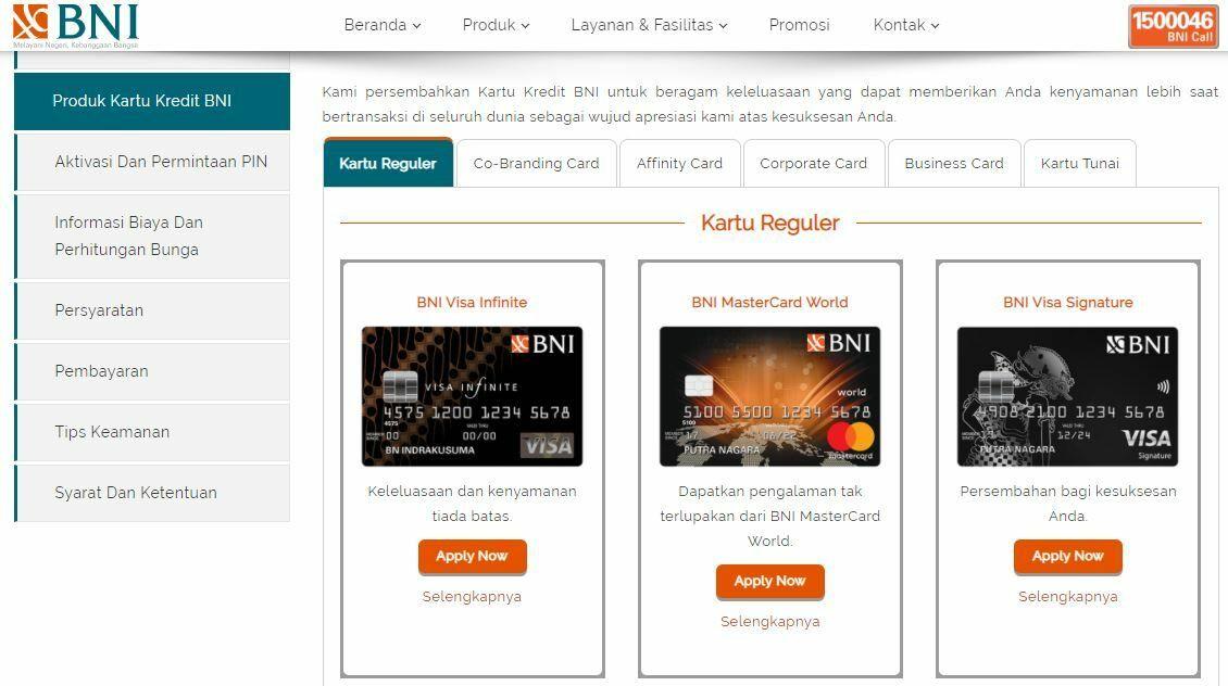 Membuat Kartu Kredit BNI Online Ae985