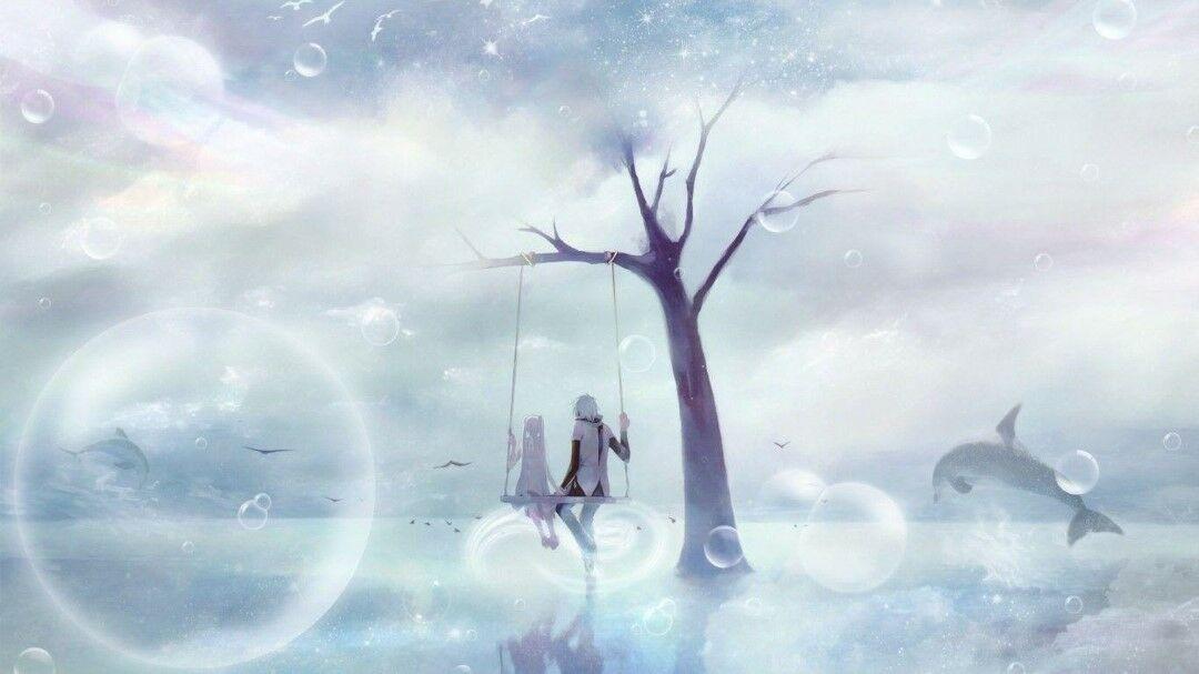 Gambar Anime Romantis Hitam Putih 1 08028